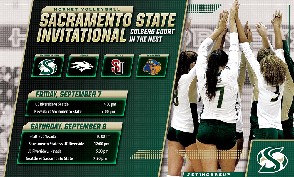 VOLLEYBALL HOSTS THE 4-TEAM SACRAMENTO STATE INVITE FRIDAY AND SATURDAY