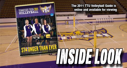 The Tennessee Tech 2011 Volleyball Guide is available online