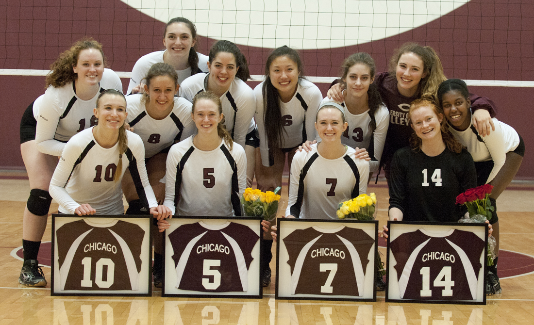 UChicago volleyball celebrates Senior Night with sweeps of Dominican and North Park