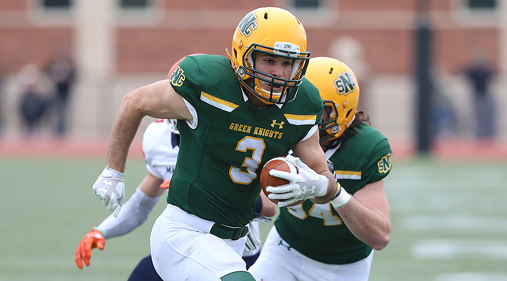 Matt Galanopoulos with the ball in a St. Norbert file photo.