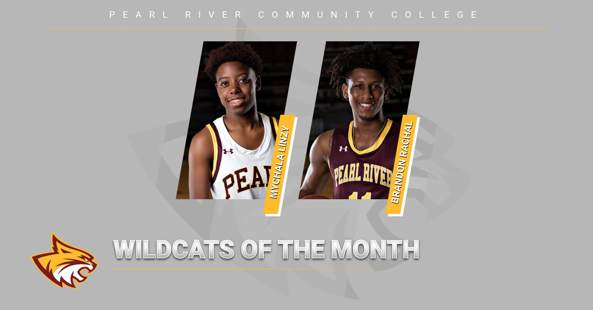 Mychala Linzy, Brandon Rachal named Wildcats of the Month