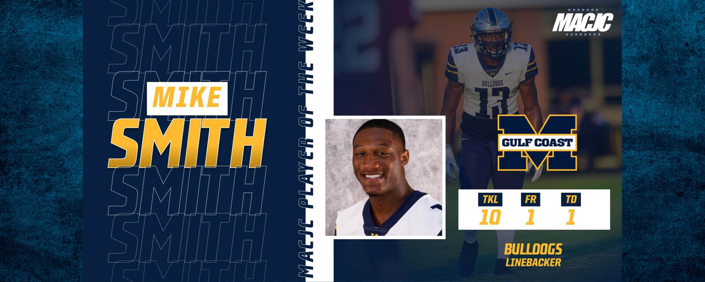 Smith named MACJC Defensive Player of the Week