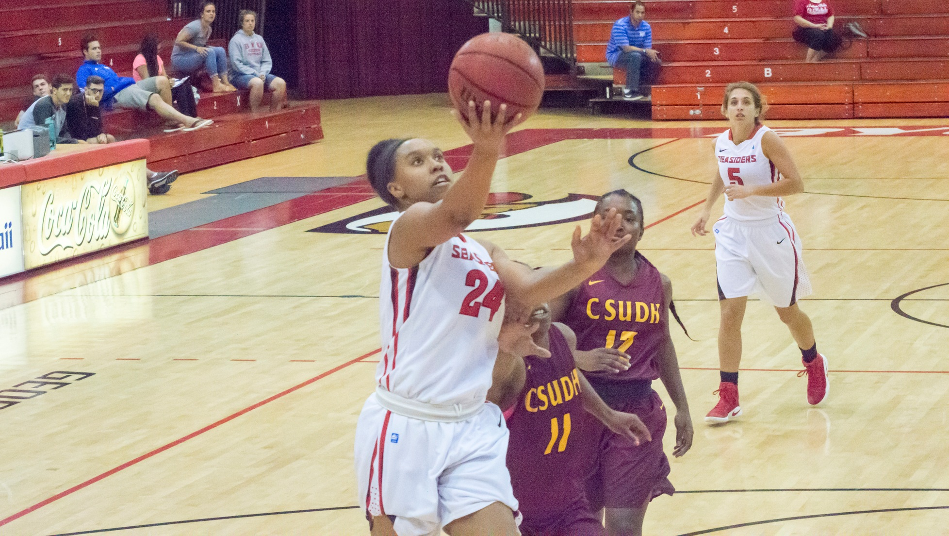 Tyvette White scored a career-high 22 points against Dixie State.