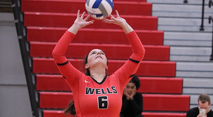 Women's Volleyball Falls In Five Sets In Playoff Match