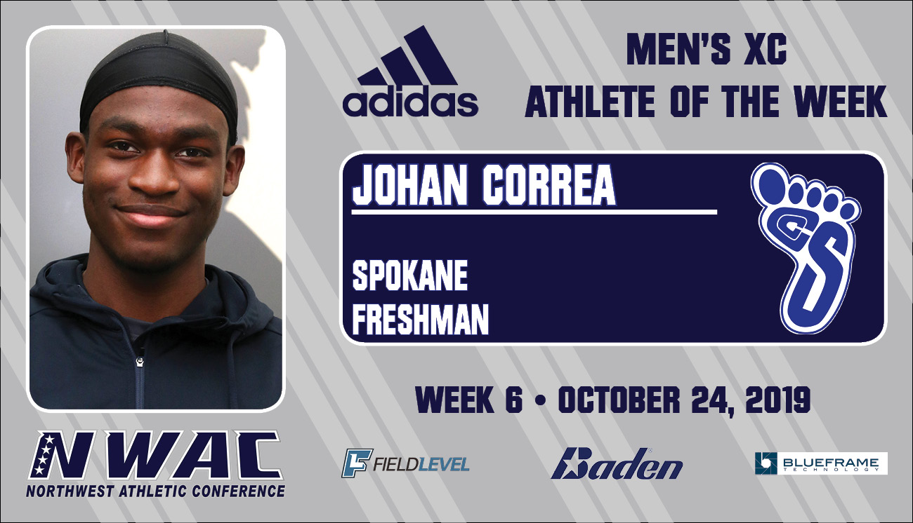 Adidas Athlete of the Week graphic for Johan Correa