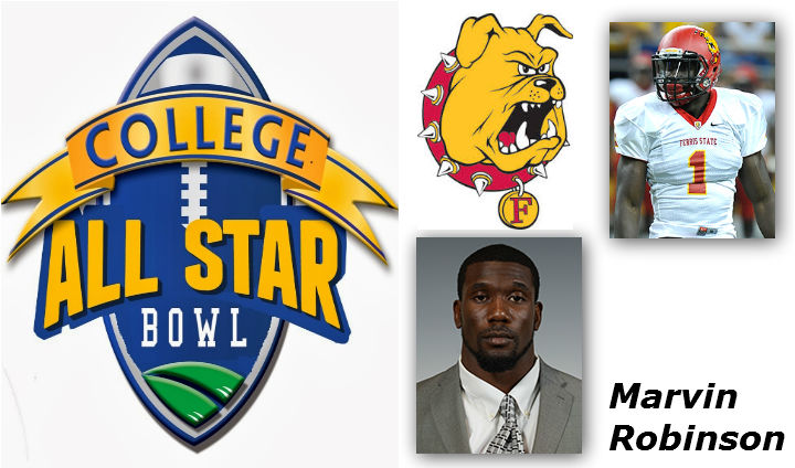 Ferris State's Marvin Robinson To Compete In One Of College Football's Top All-Star Games Friday Night