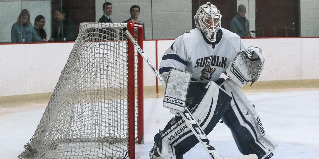 Men's Hockey Shutouts Western New England, 5-0, Sweeps Series
