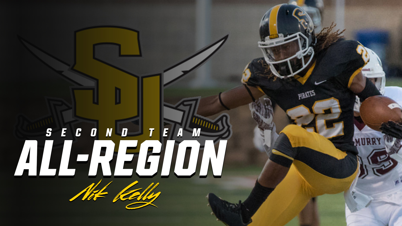 Kelly Named to D3football.com All-South Regional Team