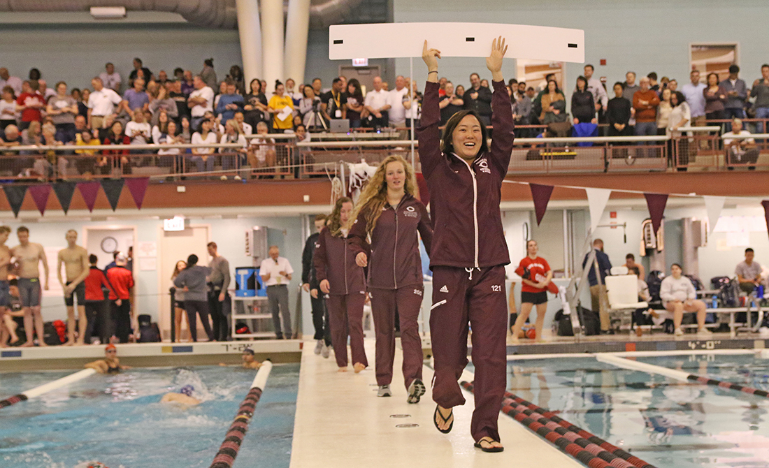 The UChicago women's divers