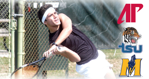 Golden Eagle tennis team faces three OVC tests on the road