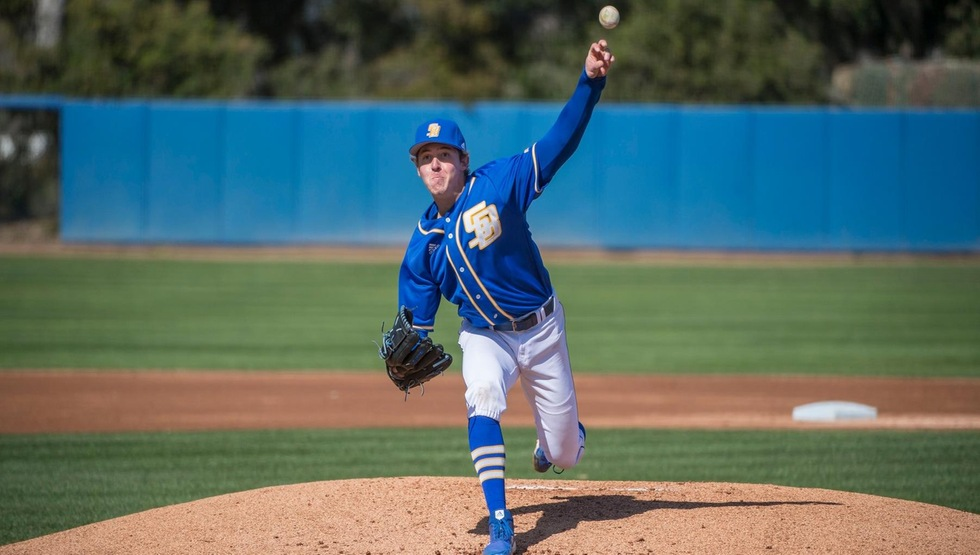 Rodney Boone took a no-hitter into the eighth inning to lead UCSB past SFA on Sunday afternoon. (Photo by Tony Mastres)