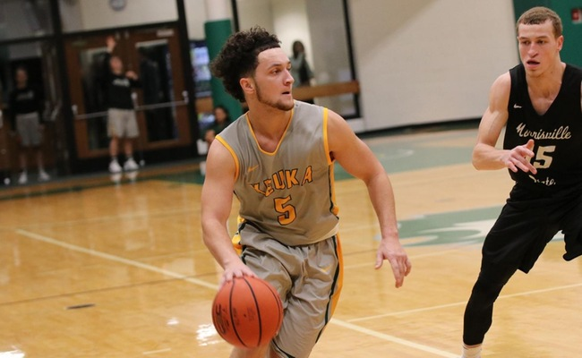 Greg Tyler (5) led Keuka College with 13 points on Sunday
