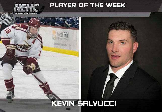 Kevin Salvucci mens hockey NEHC action player of the week