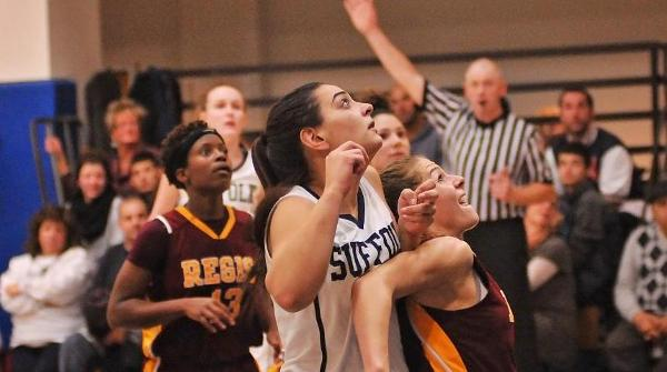 Campellone's Career Night Leads Women's Basketball Past Clark, 74-68