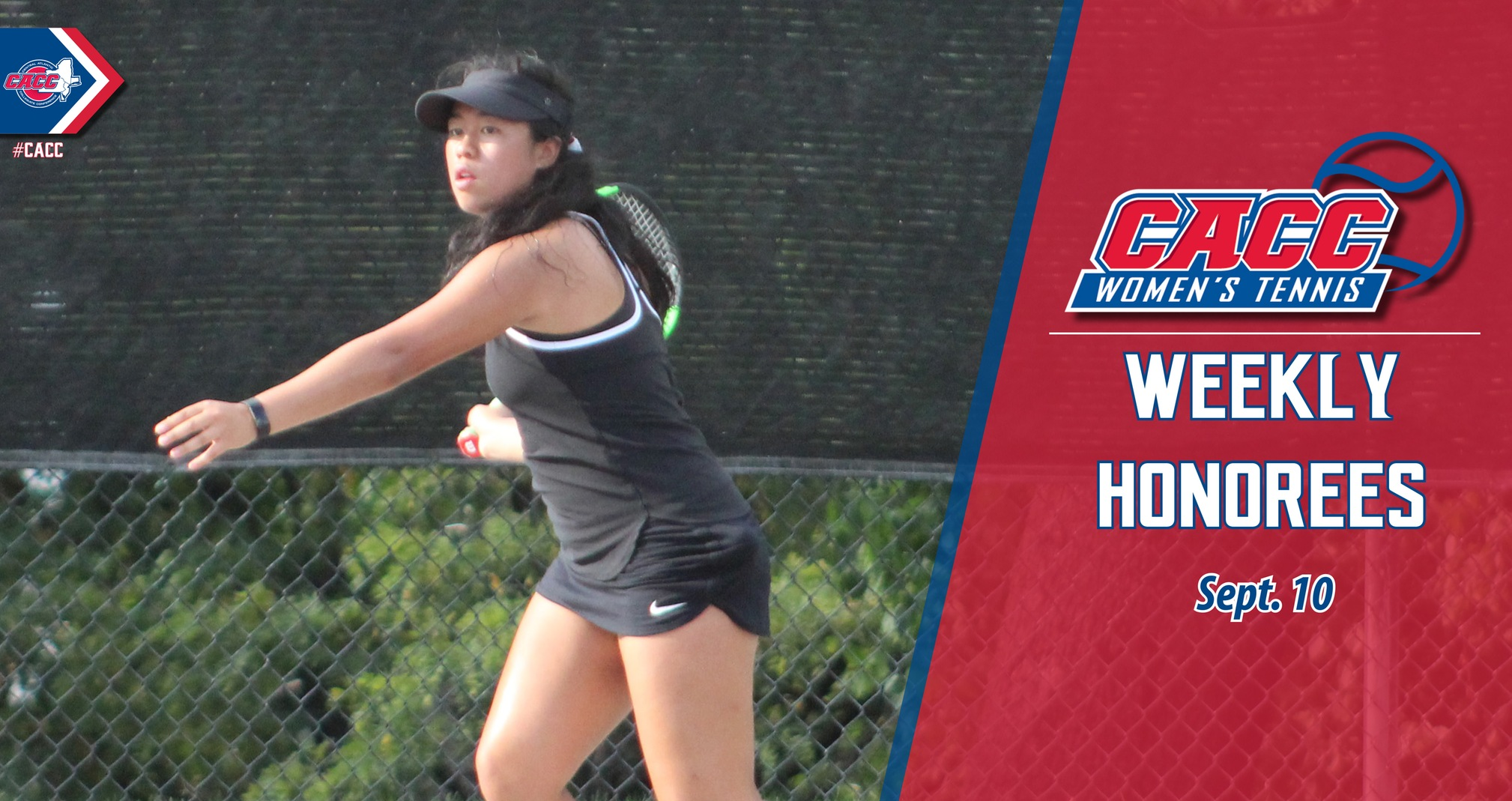 CACC Women's Tennis Weekly Honorees (Sept. 10)