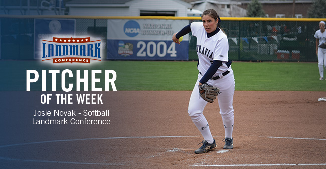 Novak Earns Third Straight Landmark Conference Pitcher of the Week Honor