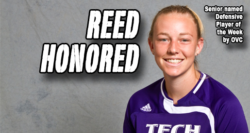 Reed nets OVC Defender of the Week honors