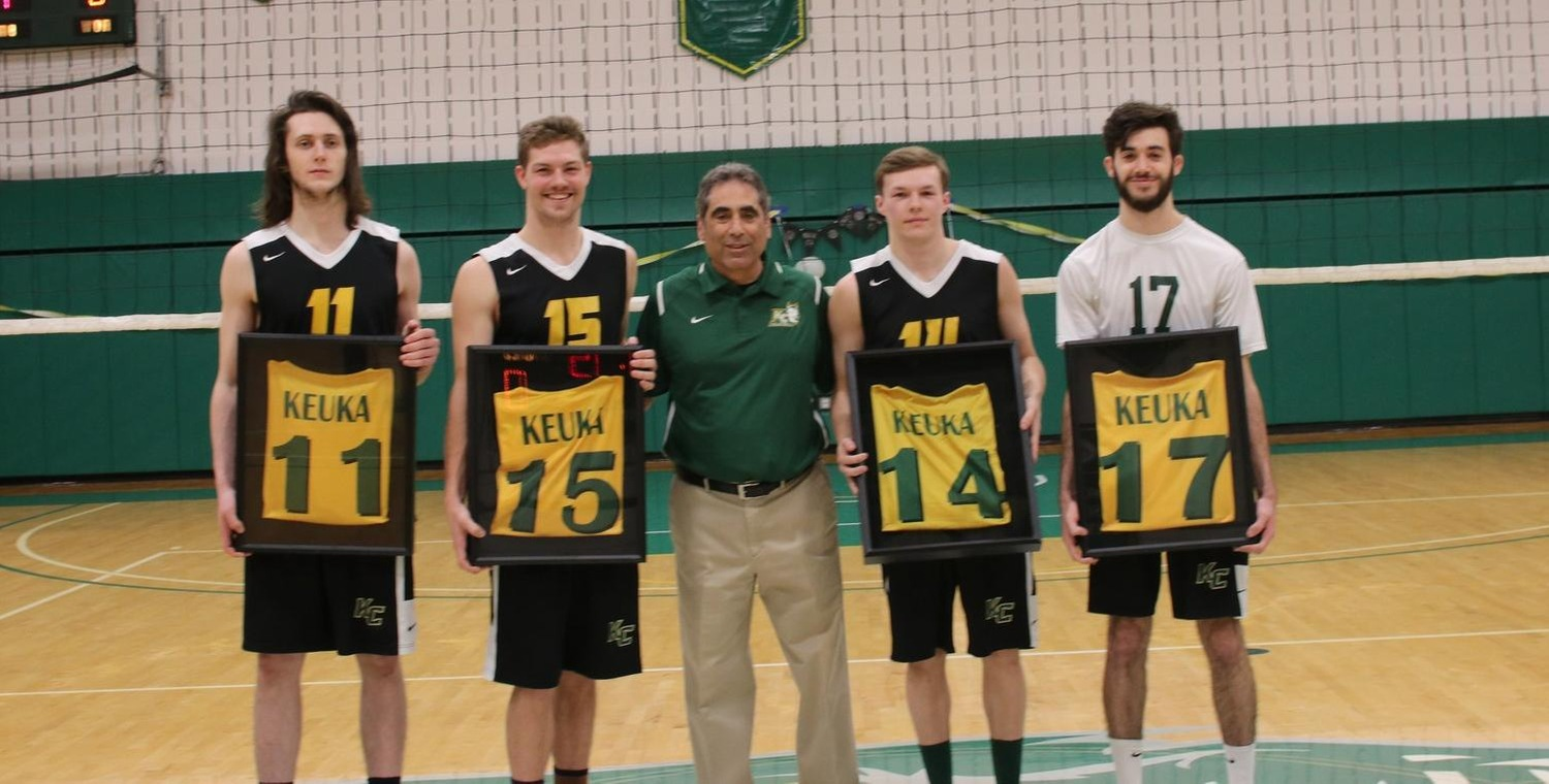 Sunday was Senior Day for the Keuka College Men's Volleyball Team -- Photo by Chey Bennett