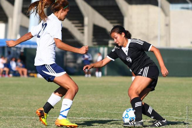 April Juarez (9) scored twice and added an assist in the Falcons 7-0 win over El Camino