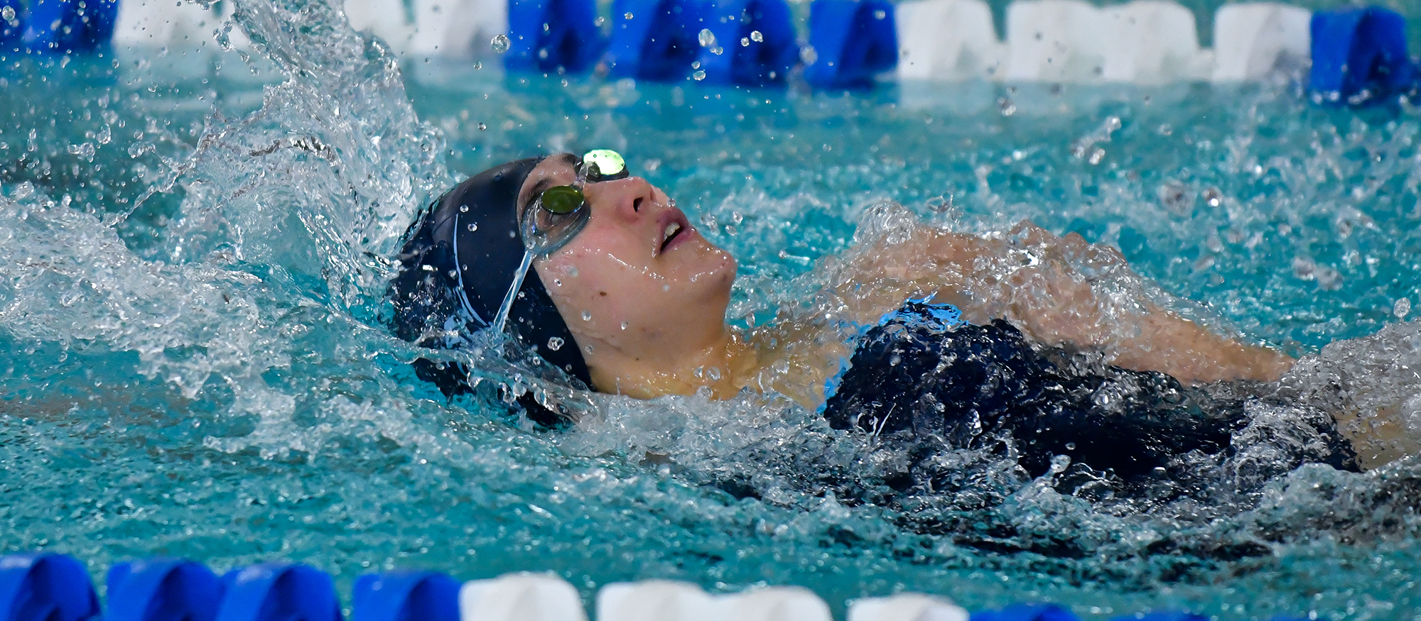 Action photo of Lyons swimmer, Jacqueline Park.