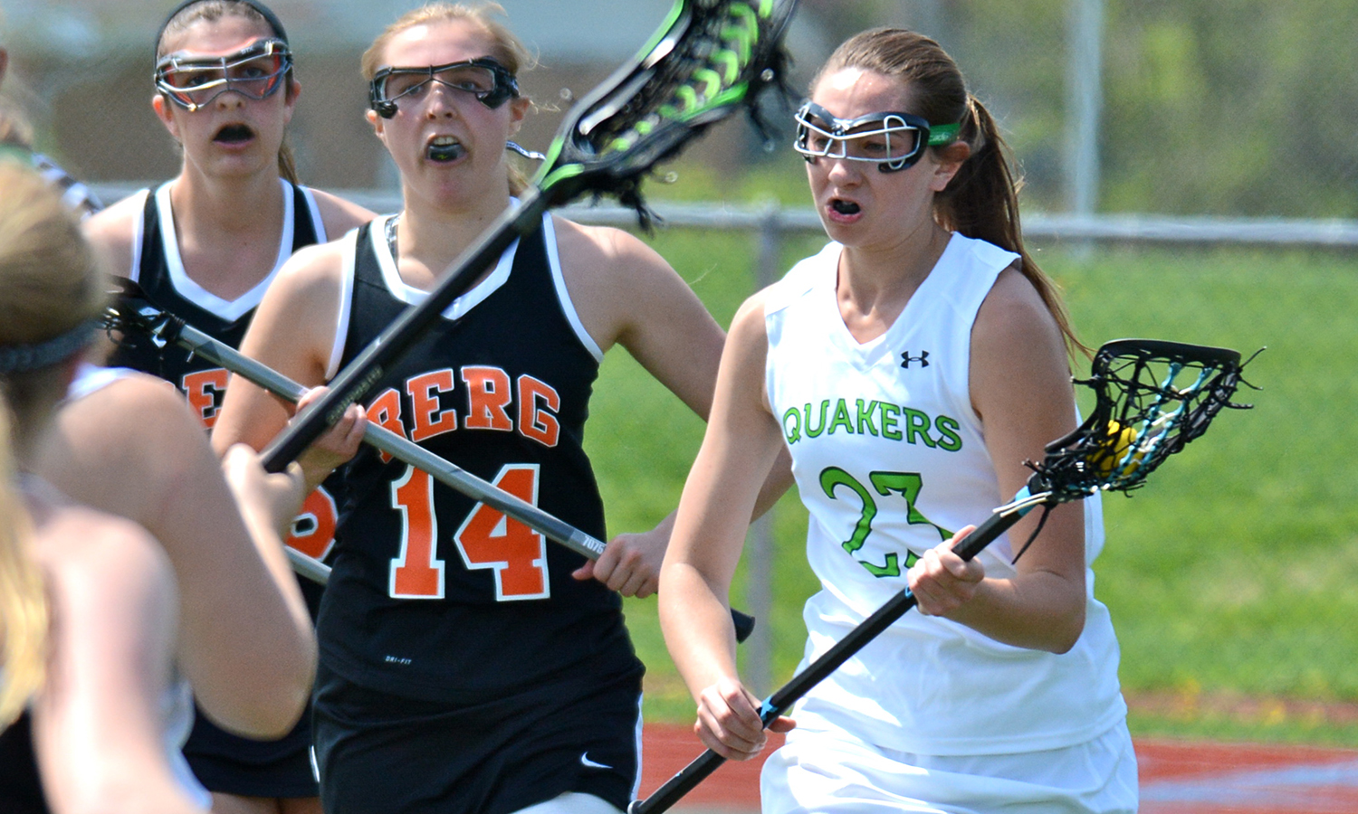Blaine tallies six goals in @DubC_WLAX win