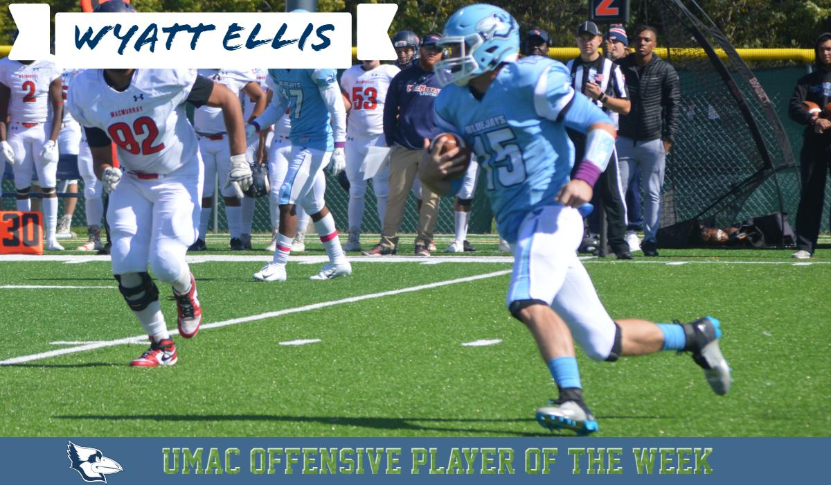 Four Touchdown Performance Earns Ellis UMAC Offensive Player of the Week