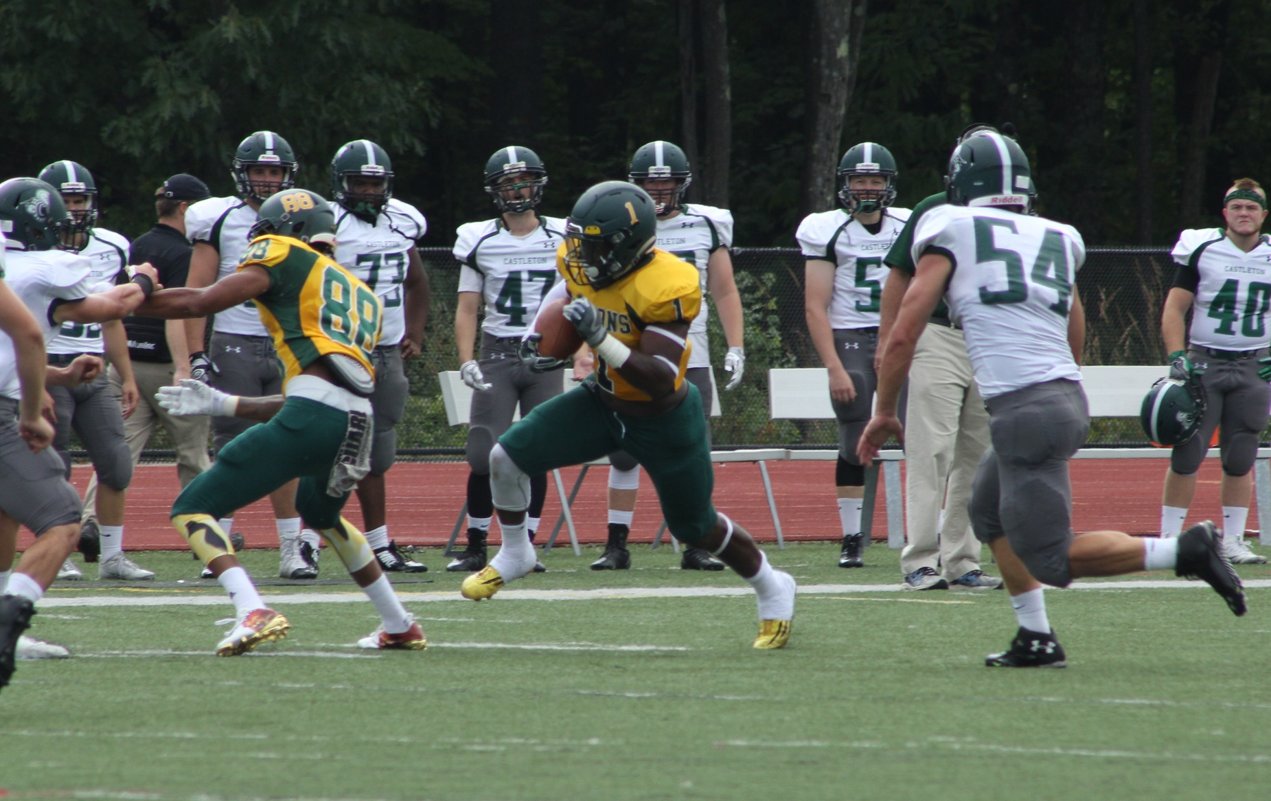 Falcons Edged By Curry In Season Opener, 33-30