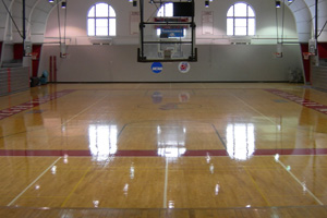 Basketball stage view