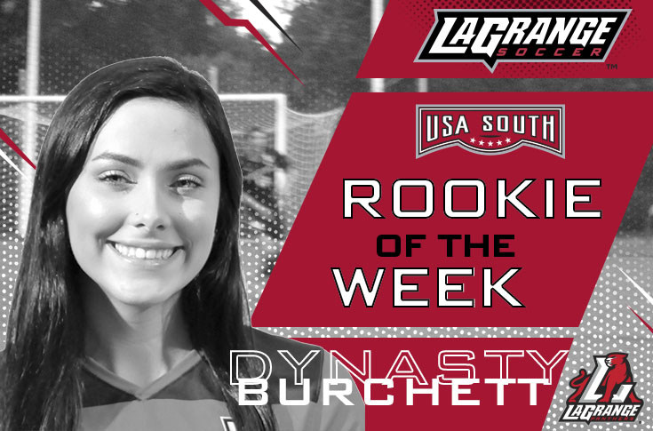 Women's Soccer: Dynasty Burchett selected as USA South Rookie of the Week