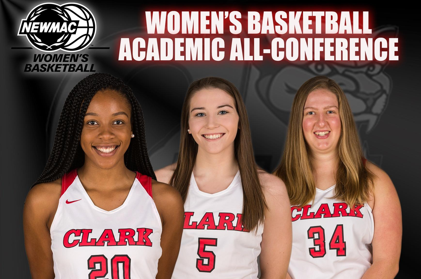 Ezemma, Legare, and Kerstetter Named to NEWMAC Academic All-Conference Team