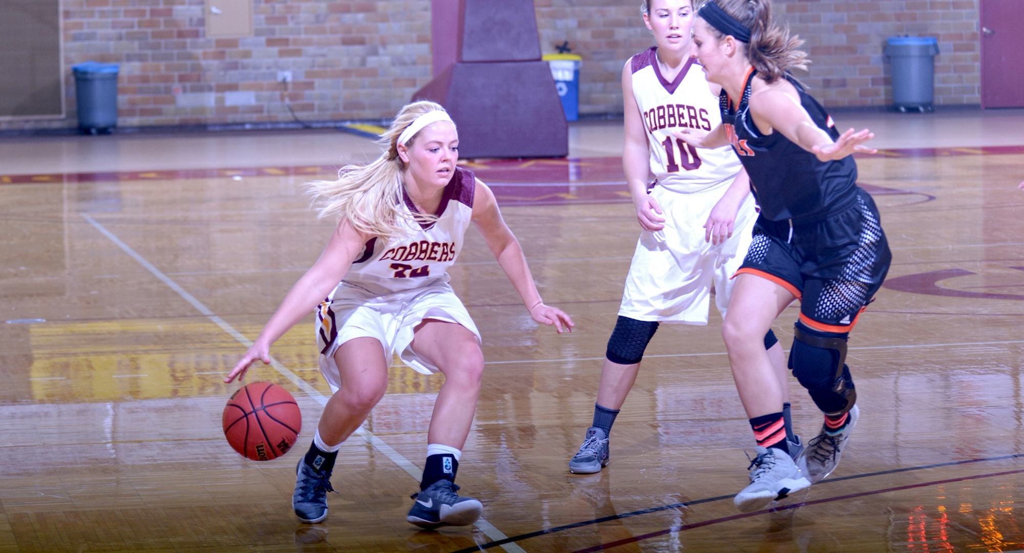 Sophomore Grace Wolhowe had a team-high 12 points in the Cobbers' final non-conference game of the year at Valley City State.
