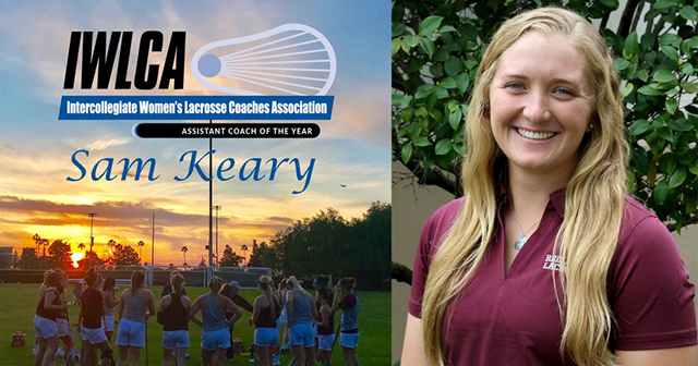 Redlands Lacrosse Assistant Coach Samantha Keary Named IWLCA Division III Assistant Coach of the Year