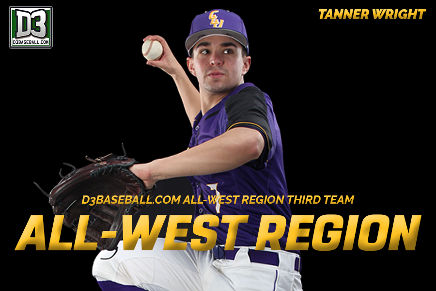 Wright Named to D3Baseball.com All-West Region Squad