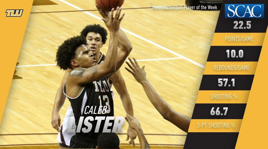 Caleb Lister named SCAC Men's Basketball Player of the Week