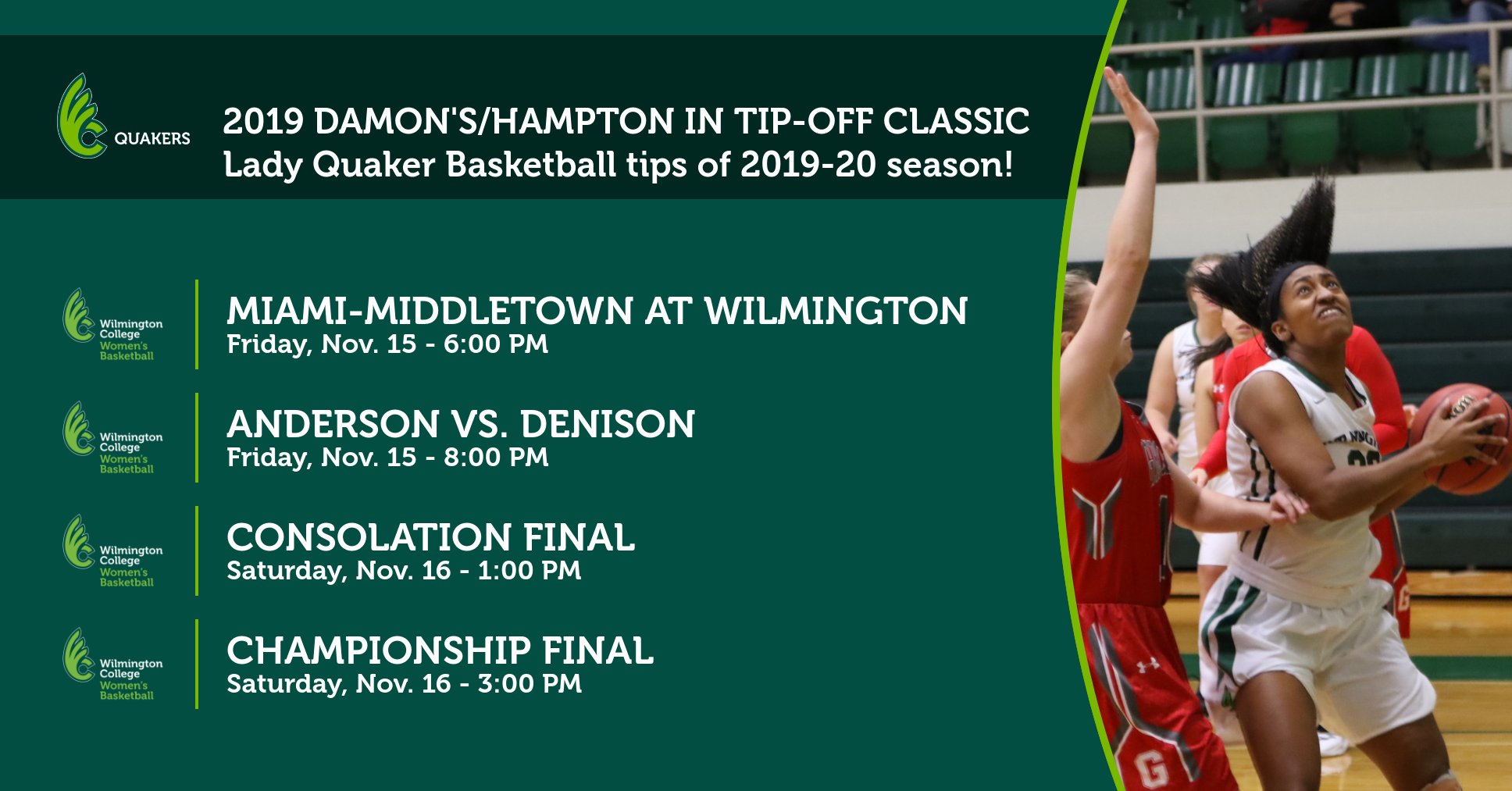 Women's Basketball Opens Season with 28th Annual Damon's/Hampton Inn Tip-Off Tournament