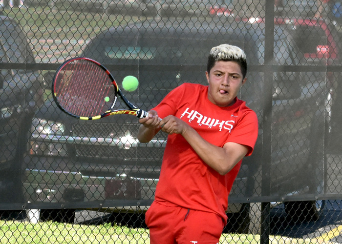 Mark Melchor won at No. 6 singles in Friday's 7-2 loss to Millsaps. (Photo by Wesley Lyle)