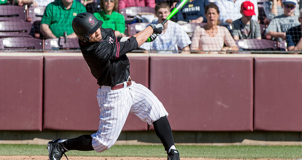 Tyler Meditz hit a pair of solo homers in Friday night's eight-run victory.