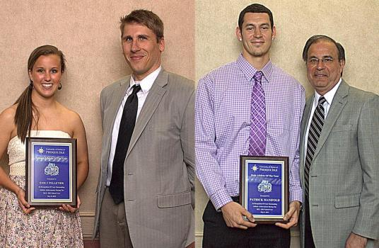 Athletes of the Year:  Emily Pelletier & Patrick Manifold with their coaches