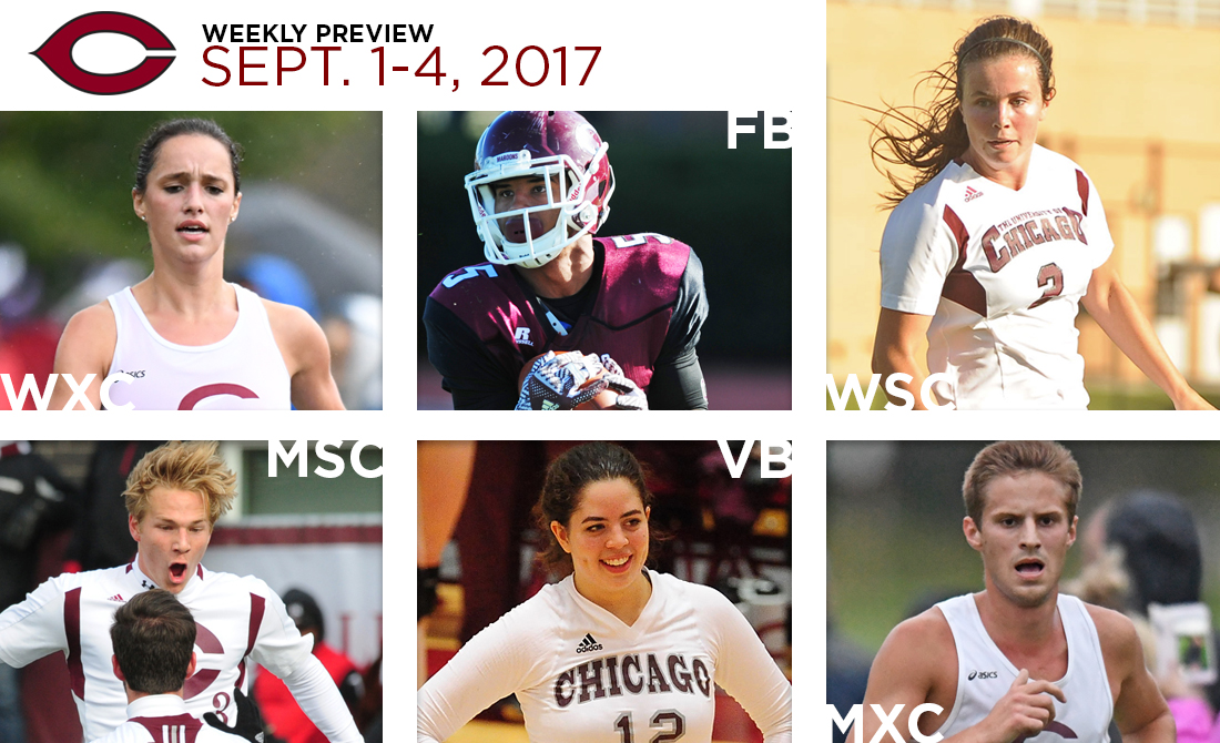 UChicago Athletics Preview: Sept. 1-4