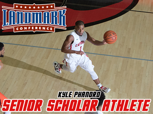 Phanord Honored as Landmark Men's Basketball Senior Scholar Athlete
