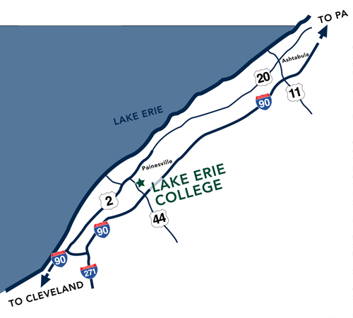 Lake Erie College Campus Map.Directions Lake Erie