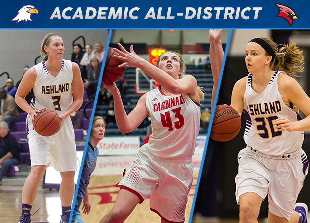 Three GLIAC Women's Basketball Standouts Named CoSIDA Academic All-District