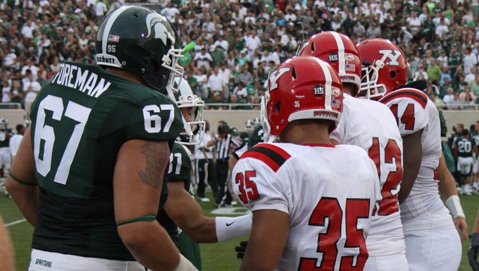 YSU visits Michigan State for the second time in three years on Sept. 14.