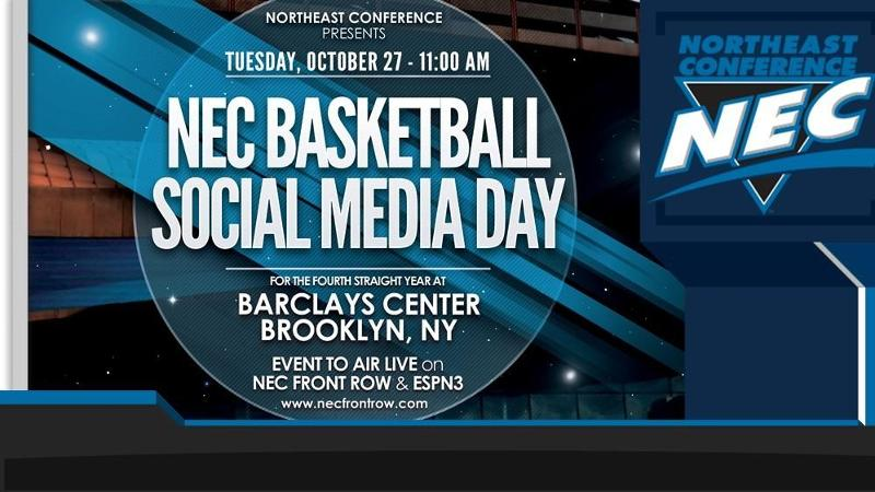 "Men's and Women's Hoop Travel to NEC Basketball ""Social"" Media Day"