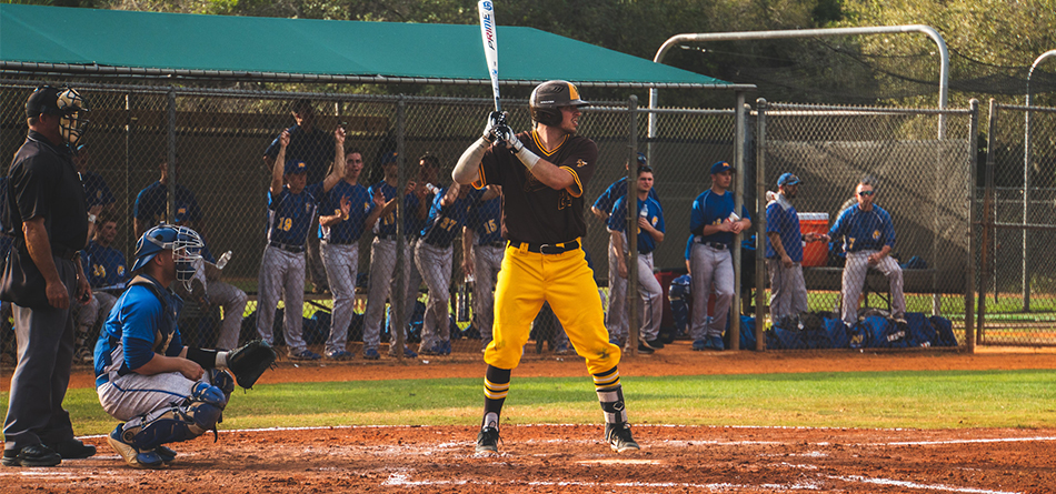 Senior Jacob Bonner had two hits and three RBI in the 7-5 victory over No. 7 Wooster (Photo Courtesy of Alec Palmer)