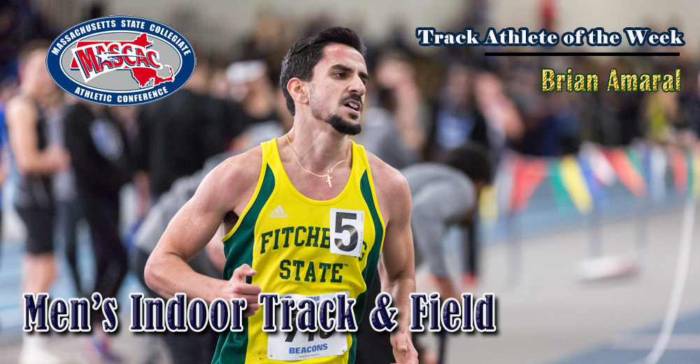 Amaral Selected MASCAC Indoor Track Athlete Of The Week