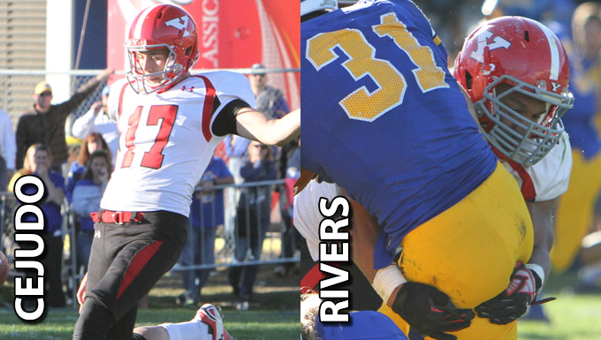 Joey Cejudo and Derek Rivers named MVFC Players of the Week.