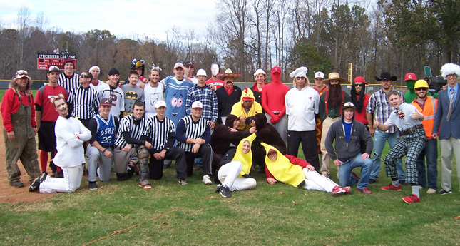 Hornet Baseball Team Celebrates Halloween With Costume Scrimmage