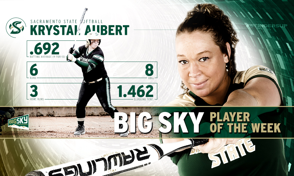 AUBERT NAMED BIG SKY SOFTBALL PLAYER OF THE WEEK