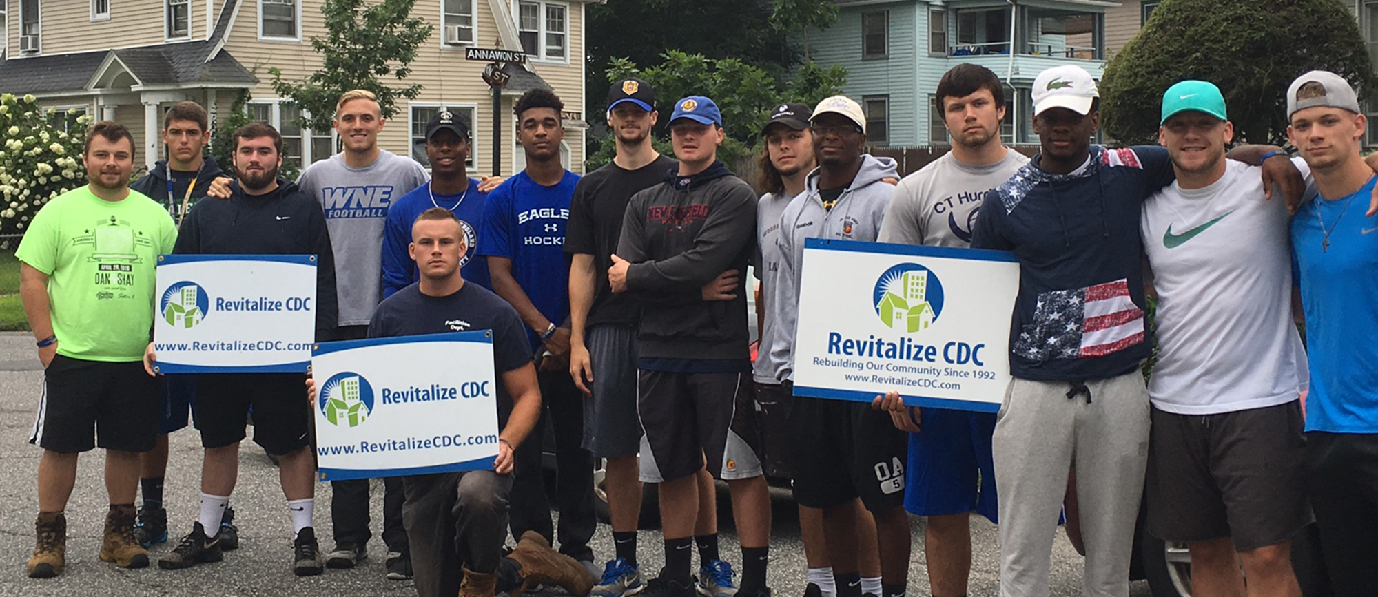 Western New England Football Volunteers with Revitalize CDC For 12th Consecutive Year